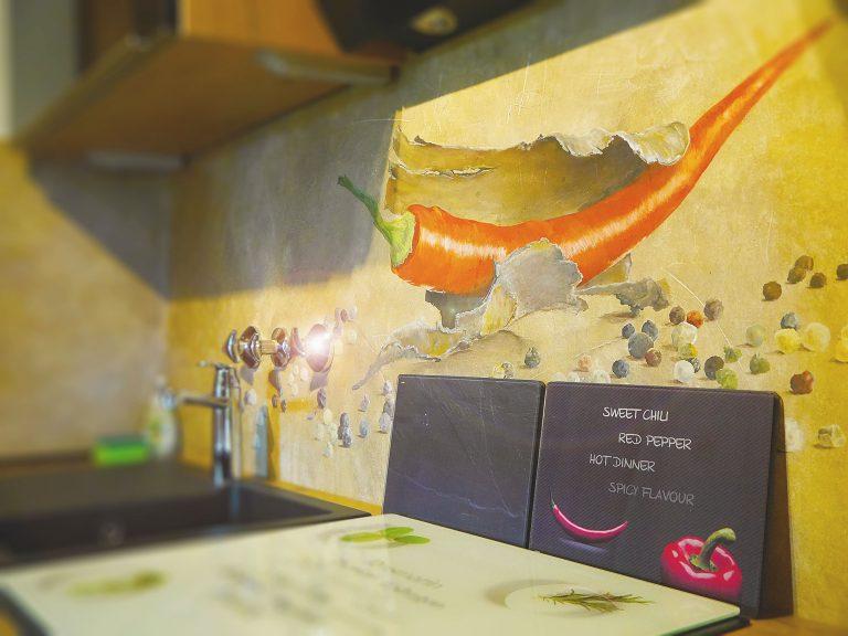Küche Ferienwohnung Löwenzahn Haus Sonneck Pfronten