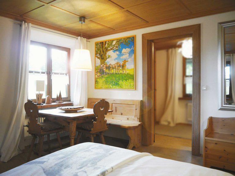 Essbereich Ferienwohnung Löwenzahn Haus Sonneck Pfronten